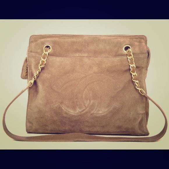CHANEL Handbags - Authentic Chanel suede leather shoulder bag 7a18e07104d8e